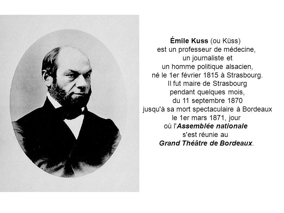 Le 11 septembre 1870 une délégation de parlementaires suisses, obtient de lassiégeant prussien quil laisse passer femmes, enfants et vieillard retenus dans Strasbourg bombardée.