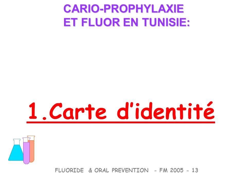 1.Carte didentité CARIO-PROPHYLAXIE ET FLUOR EN TUNISIE: CARIO-PROPHYLAXIE ET FLUOR EN TUNISIE: FLUORIDE & ORAL PREVENTION - FM 2005 - 13