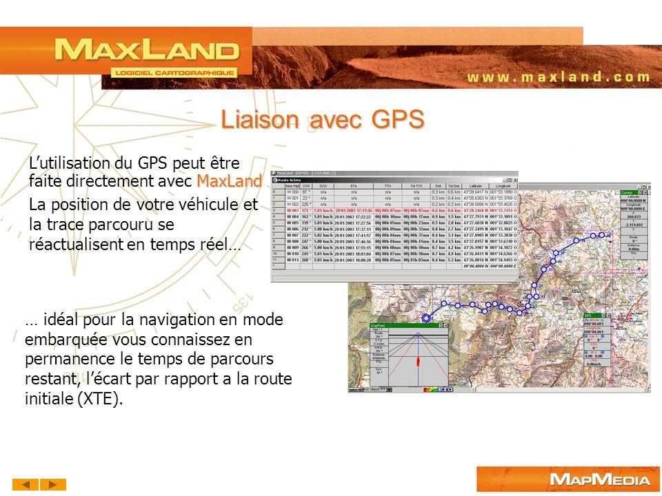 … idéal pour la navigation en mode embarquée vous connaissez en permanence le temps de parcours restant, lécart par rapport a la route initiale (XTE).
