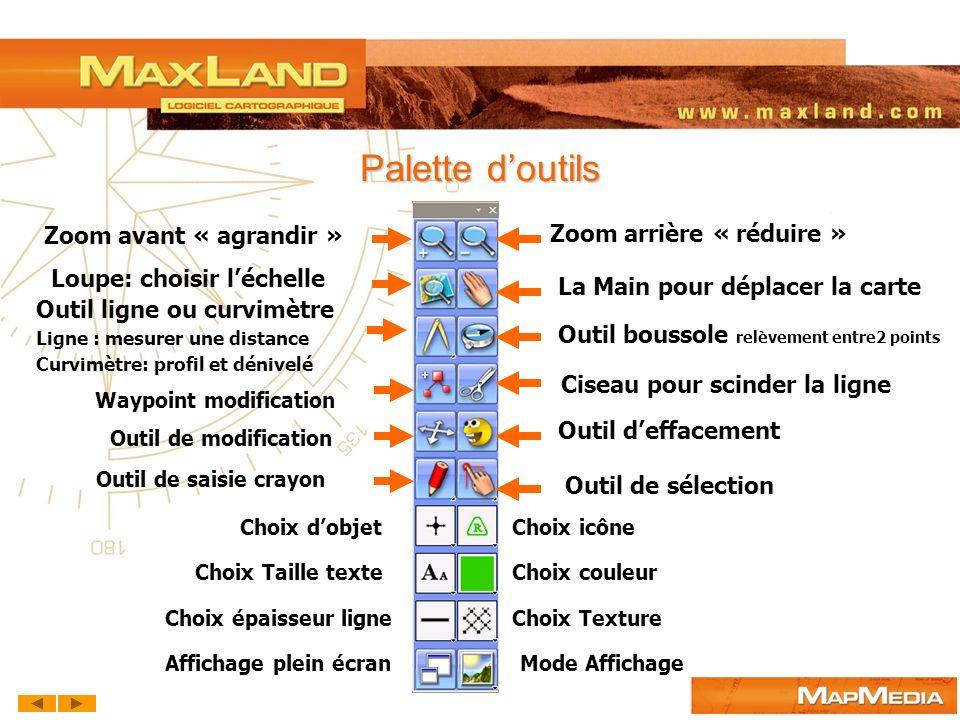 Impression MaxLand Avec MaxLand imprimez des plans de situation,des photos aériennes, des scènes en 3 dimensions ou le profil dun terrain.