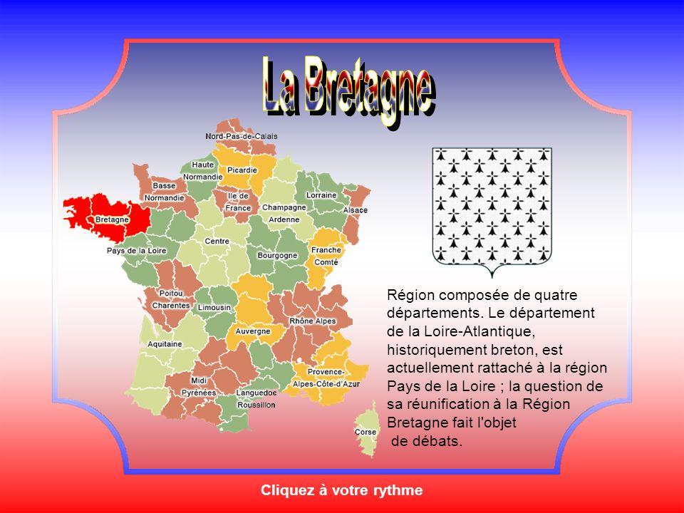 Cliquez à votre rythme Région composée de quatre départements.
