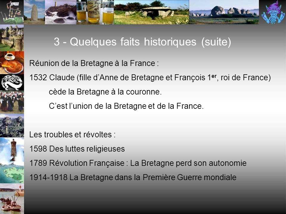 Le duché de Bretagne : 845 Nominoé, duc de Bretagne, ouvre un dynastie ducale. 952 Mort du roi Alain Barbe-Torte. Période de désordre et de misères ju