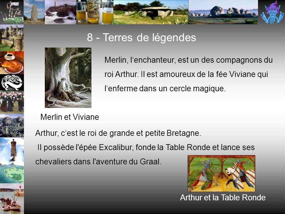 7 - Produits et spécialités La cotriade Les galettes Le kouign amannLe cidre Les coquilles Saint-Jacques Lartichaut, un légume très breton Les crêpes