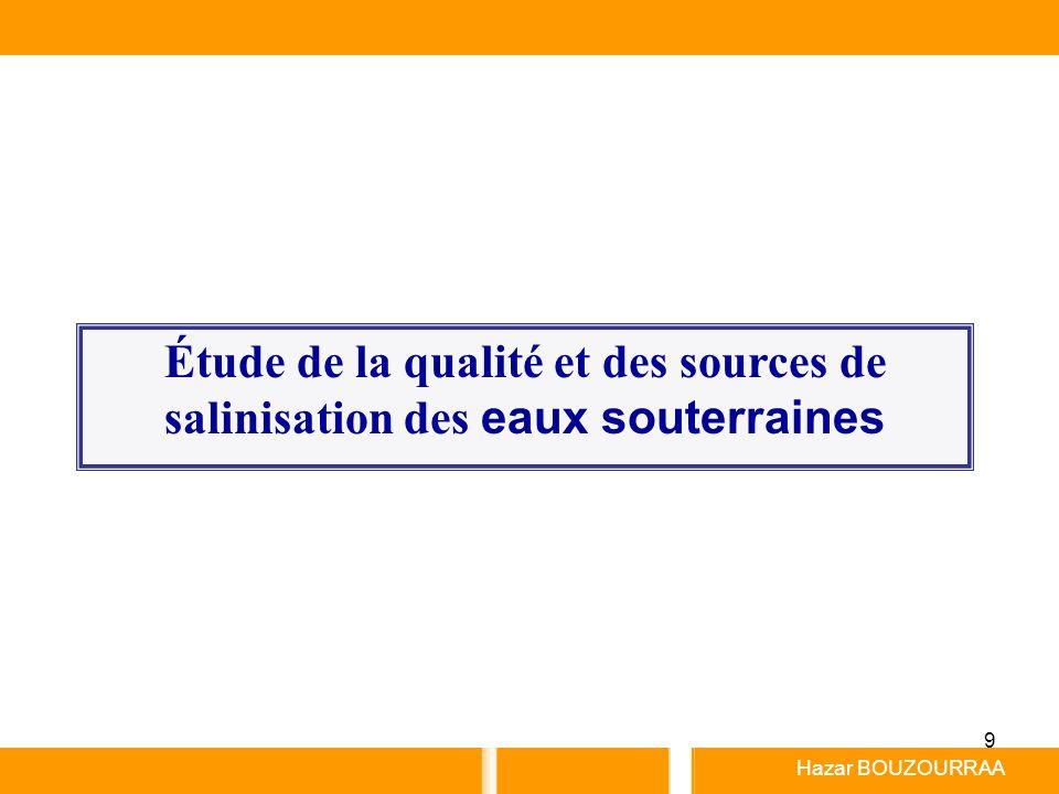 9 Hazar BOUZOURRAA Étude de la qualité et des sources de salinisation des eaux souterraines