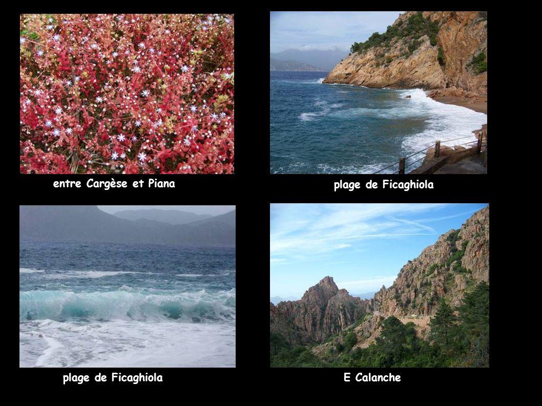 entre Cargèse et Piana plage de Ficaghiola E Calanche