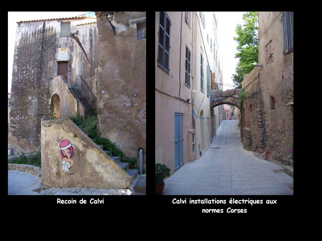 Calvi installations électriques aux normes Corses Recoin de Calvi