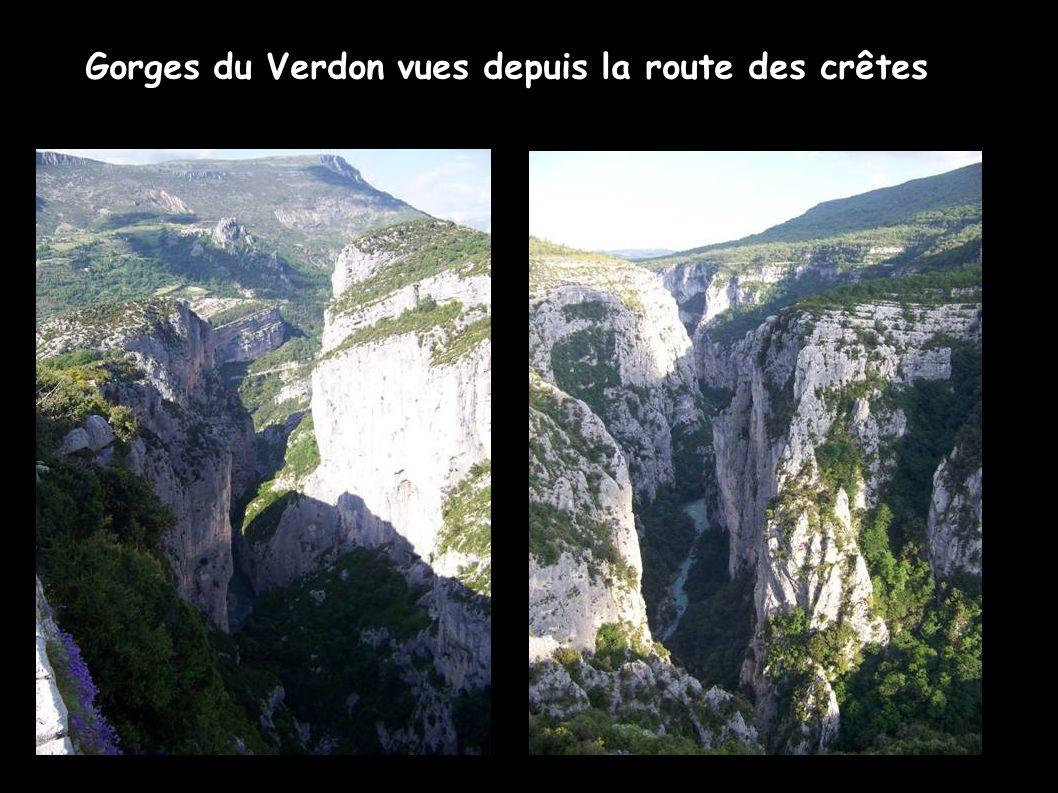 Gorges du Verdon vues depuis la route des crêtes