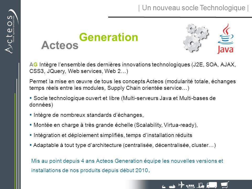 AG Intègre lensemble des dernières innovations technologiques (J2E, SOA, AJAX, CSS3, JQuery, Web services, Web 2…) Permet la mise en œuvre de tous les