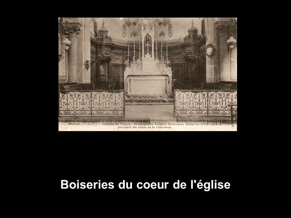 Boiseries du coeur de l église