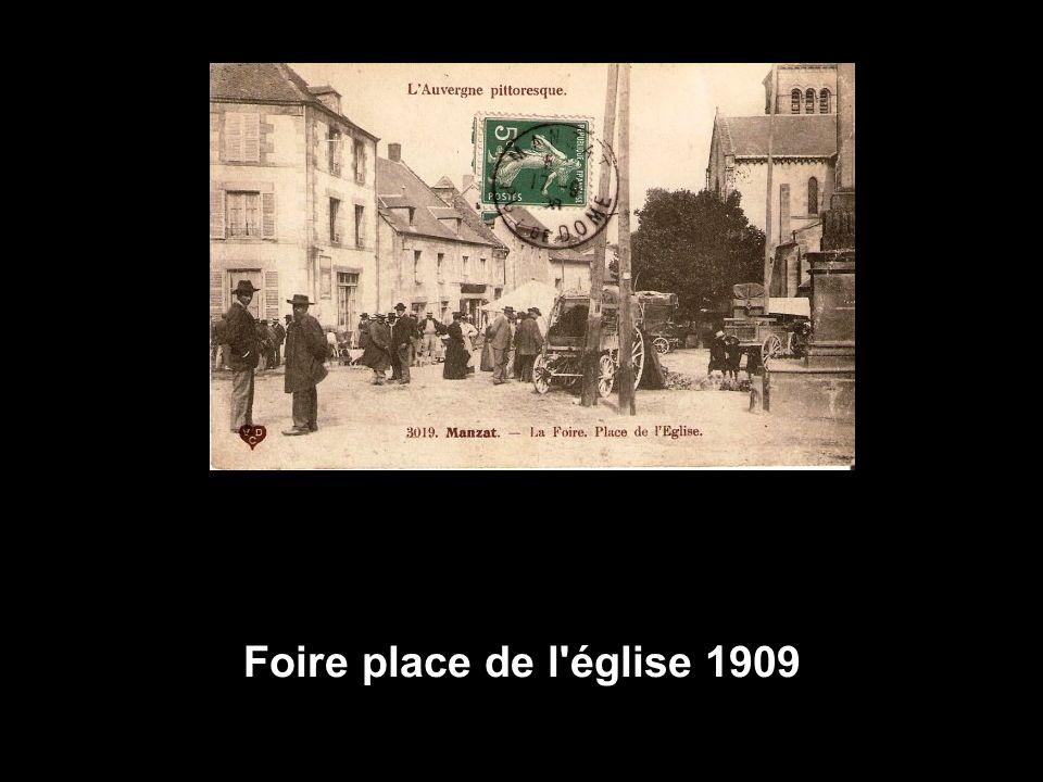 Foire place de l église 1909