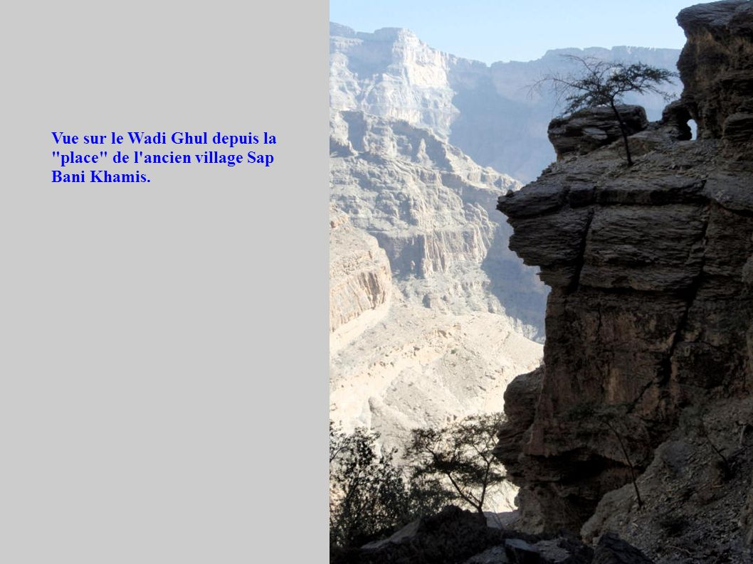 Vue sur le Wadi Ghul depuis la