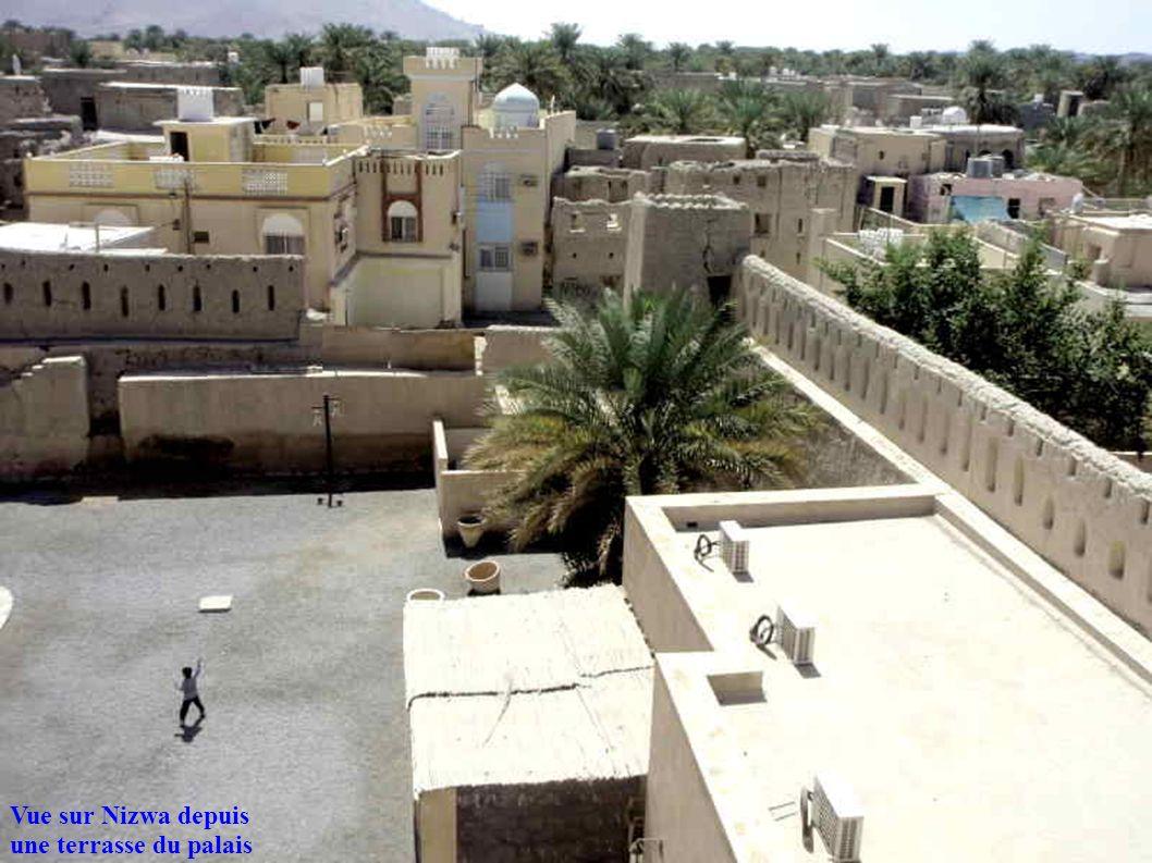 Vue sur Nizwa depuis une terrasse du palais