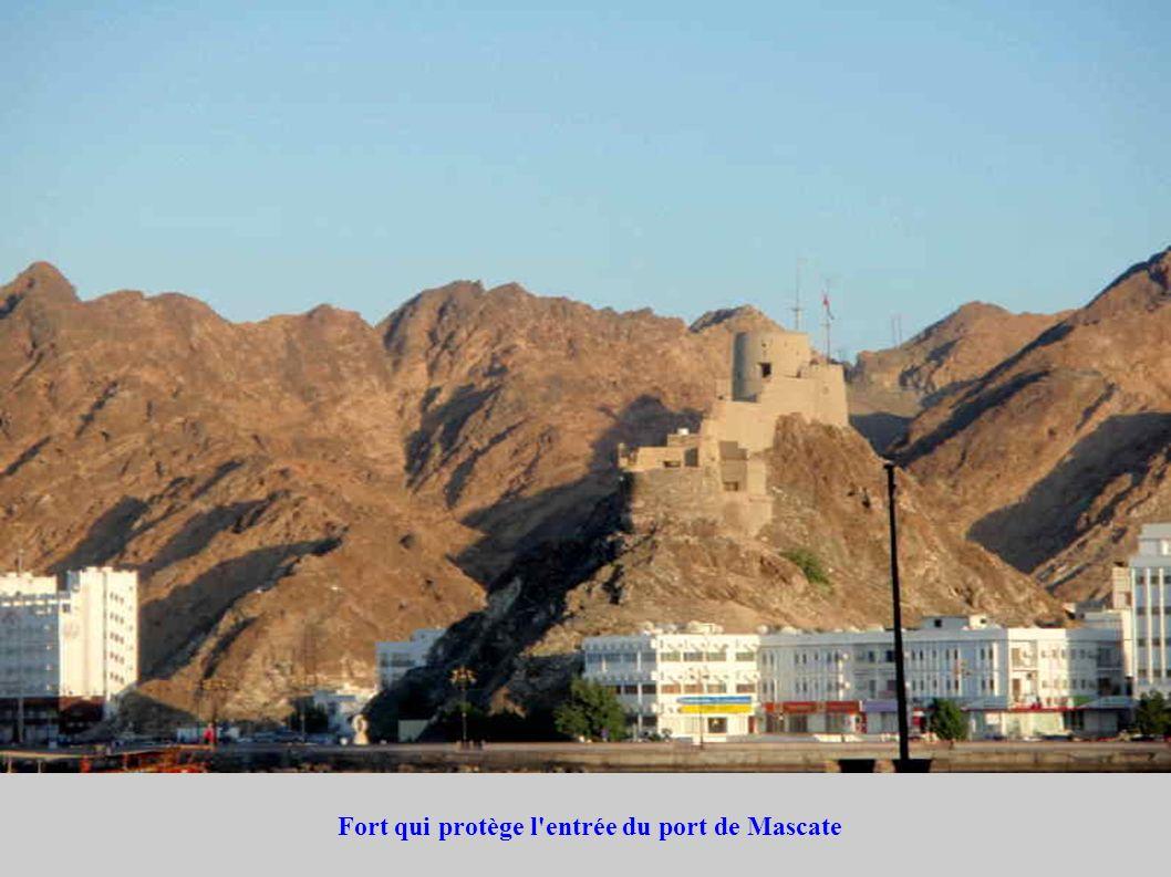 Fort qui protège l'entrée du port de Mascate