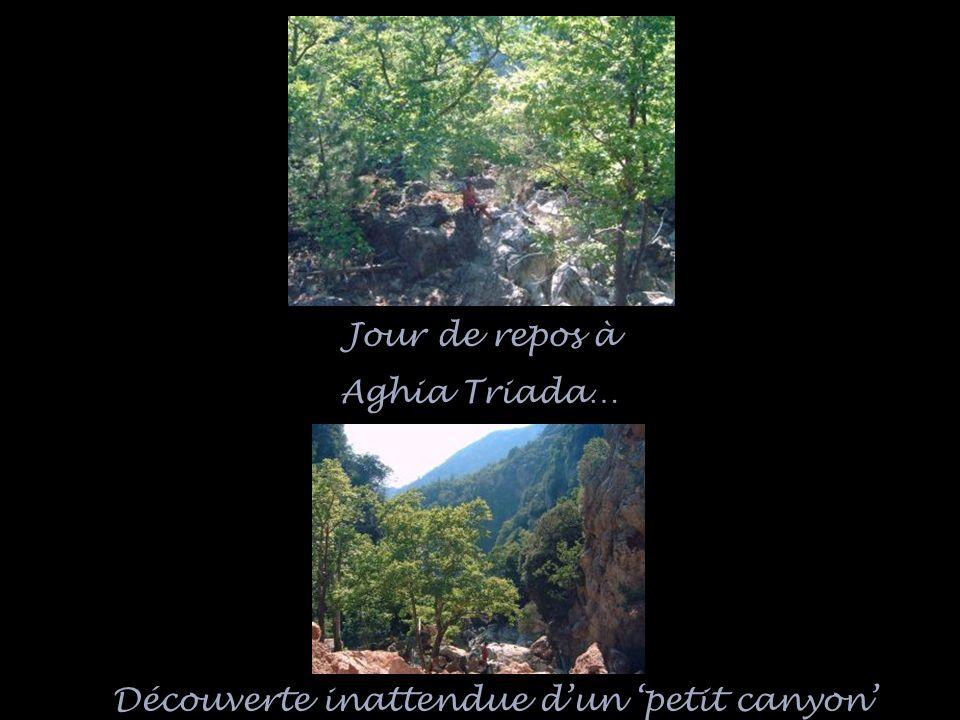 Découverte inattendue dun petit canyon Jour de repos à Aghia Triada…