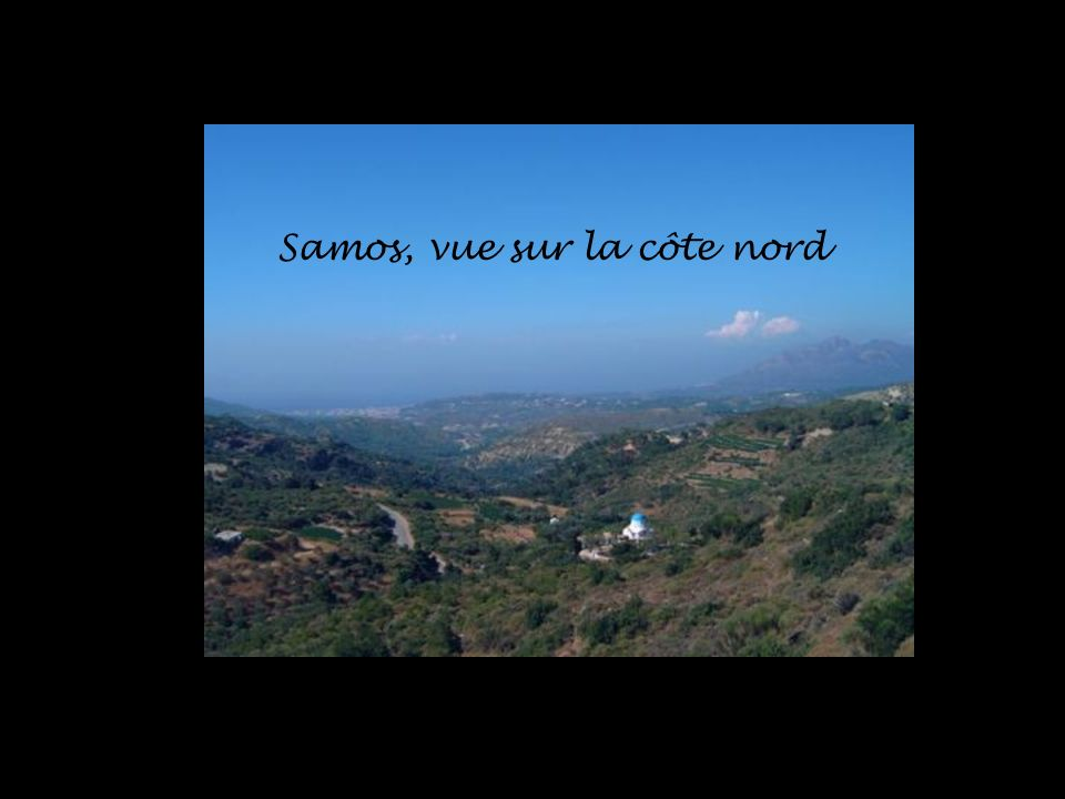 Samos, vue sur la côte nord