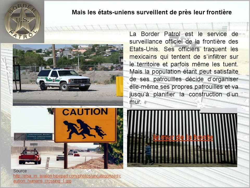 Le passage des clandestins Le passage des mexicains vers les Etats-Unis sorganise grâce à des passeurs (dits les Coyotes). Géographiquement les migran