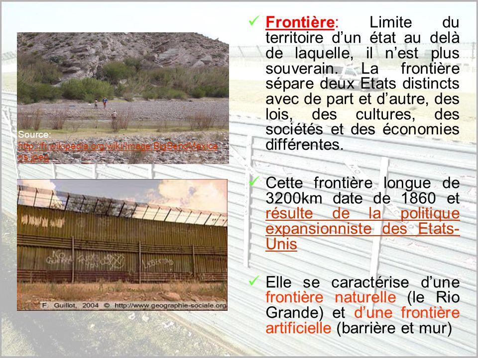 A) Une frontière politique… Source : http://cocardes.monde.online.fr/v2html/fr/cartes/monde.jpghttp://cocardes.monde.online.fr/v2html/fr/cartes/monde.