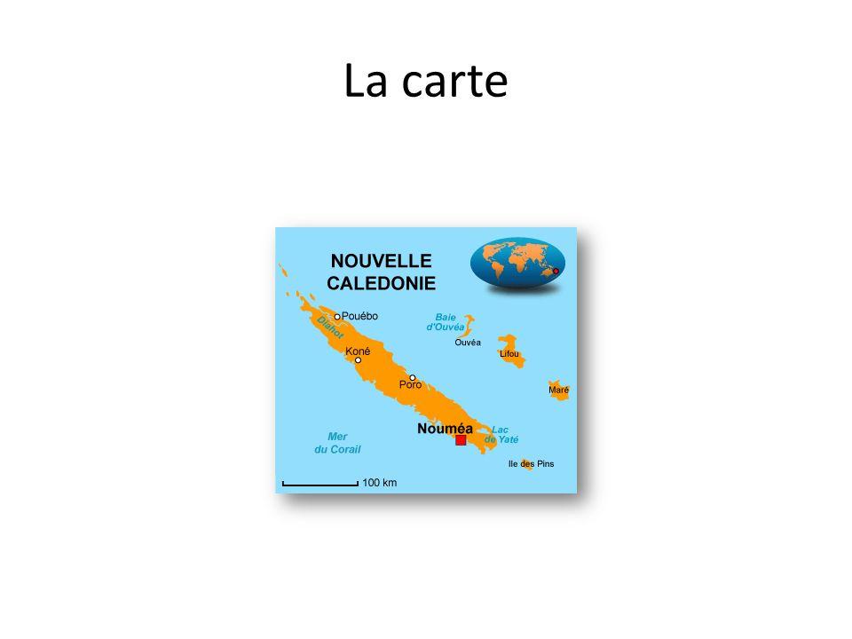 La carte de lOcéanie La Nouvelle est Française depuis le 24 septembre 1853. Cest un Territoire dOutre-Mer (T.O.M.) La capitale est donc Paris et son d