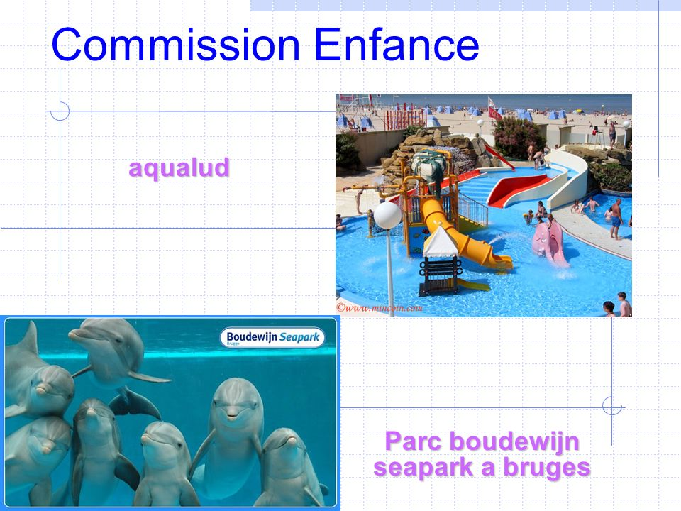 Commission Enfance Parc boudewijn seapark a bruges aqualud