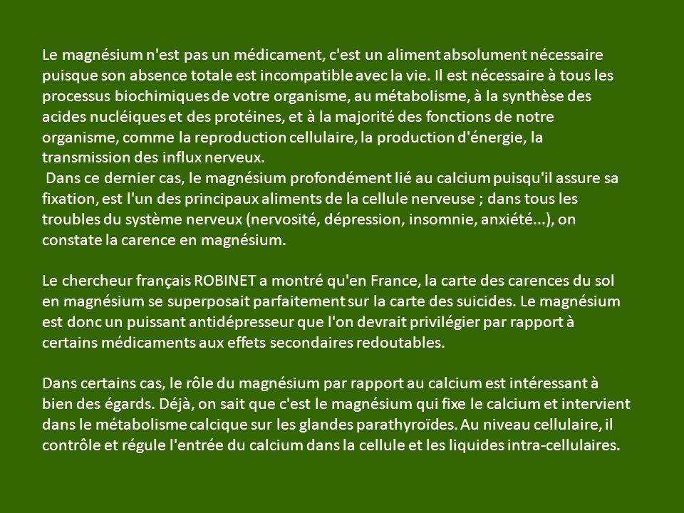 USAGES et POSOLOGIE Les indications du Chlorure de Magnésium sont innombrables.