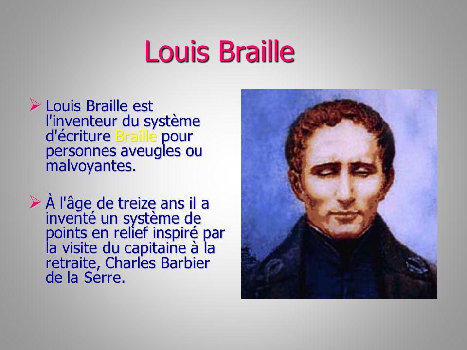 Ce système de Serre est basé sur douze points, tandis que celui de Braille l est sur six.