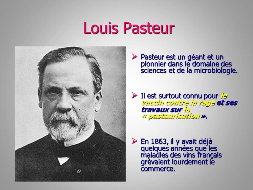 Louis Pasteur Louis Pasteur Pasteur est un géant et un pionnier dans le domaine des sciences et de la microbiologie. Pasteur est un géant et un pionni