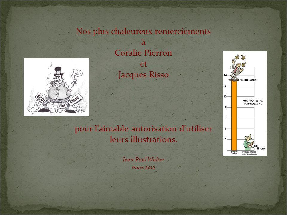 Nos plus chaleureux remerciements à Coralie Pierron et Jacques Risso pour laimable autorisation dutiliser leurs illustrations.