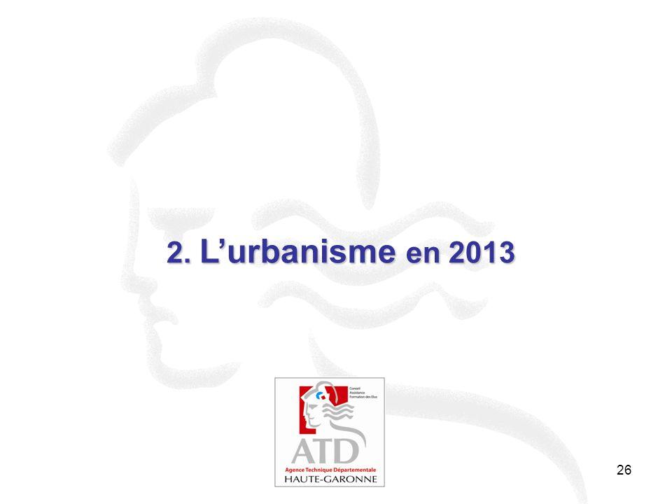 26 2. Lurbanisme en 2013