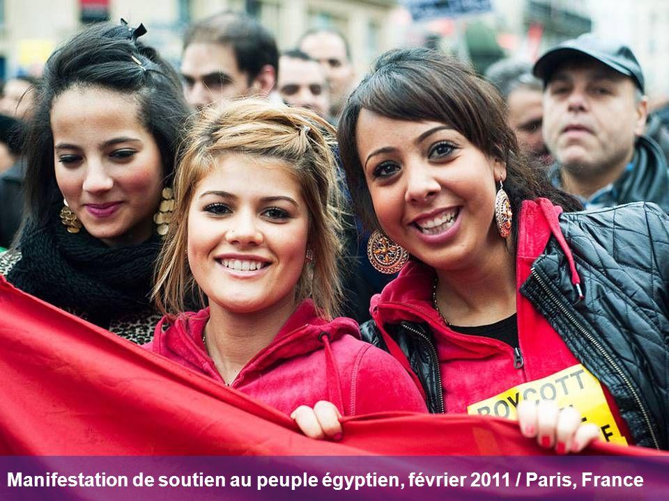 Manifestation de soutien au peuple égyptien, février 2011 / Paris, France