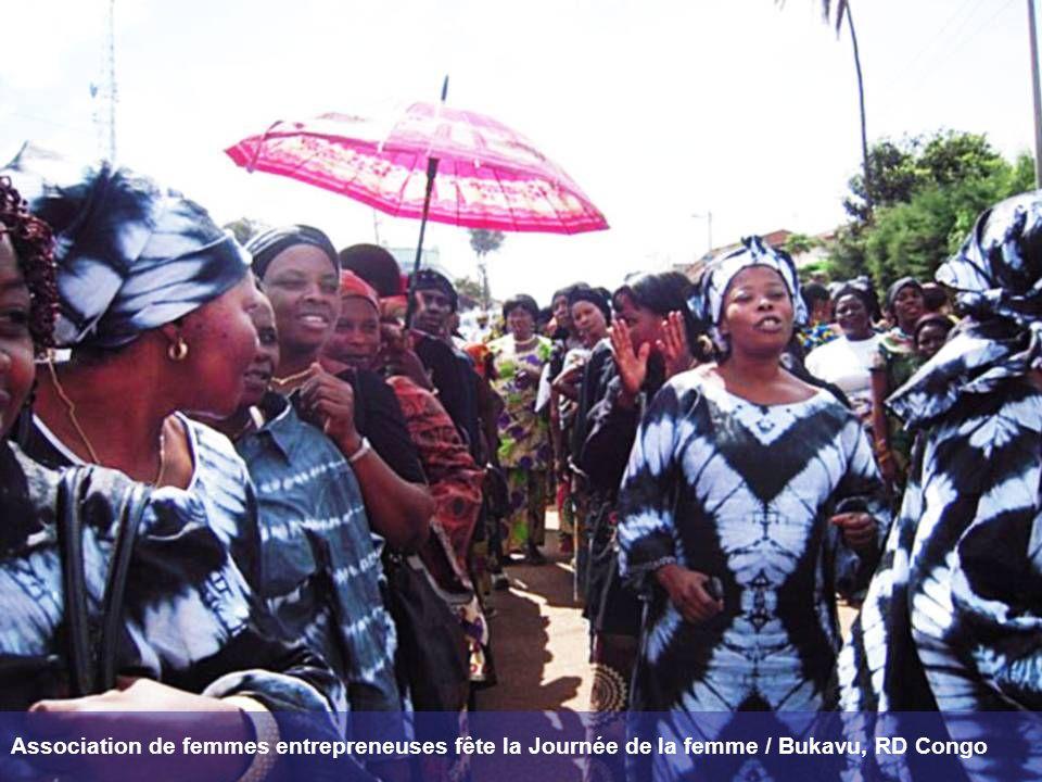Association de femmes entrepreneuses fête la Journée de la femme / Bukavu, RD Congo