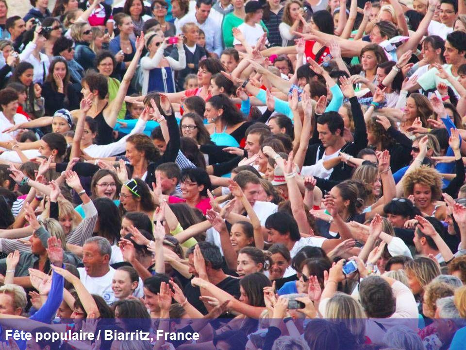 Fête populaire / Biarritz, France