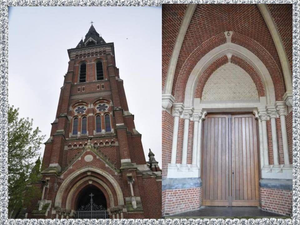 Basilique Sainte – Maxellende de Caudry : La construction de cette imposante église dans les années 1890, révèle limportance du culte rendu à la Saint