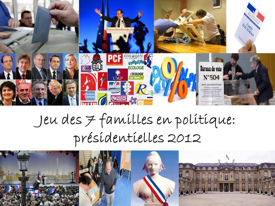 6- LES CANDIDATS 2012 Jacques Cheminade - 70 ans - Fonctionnaire - Solidarité et Progrès - Aucun mandat en cours - Slogan: « Le sursaut » - 2 candidatures.