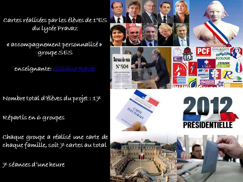 Les 7 FamillesLes 6 composantes JOUR J 1- carte électorale 2- procuration 3- isoloir 4- le vote : nul, blanc, suffrage exprimé 5- le déroulement du vote de lélecteur 6- labstention LES CANDIDATS 2012 1-N.Sarkozy et F.Hollande 2-F.Poutou et N.Arthaud 3-M.