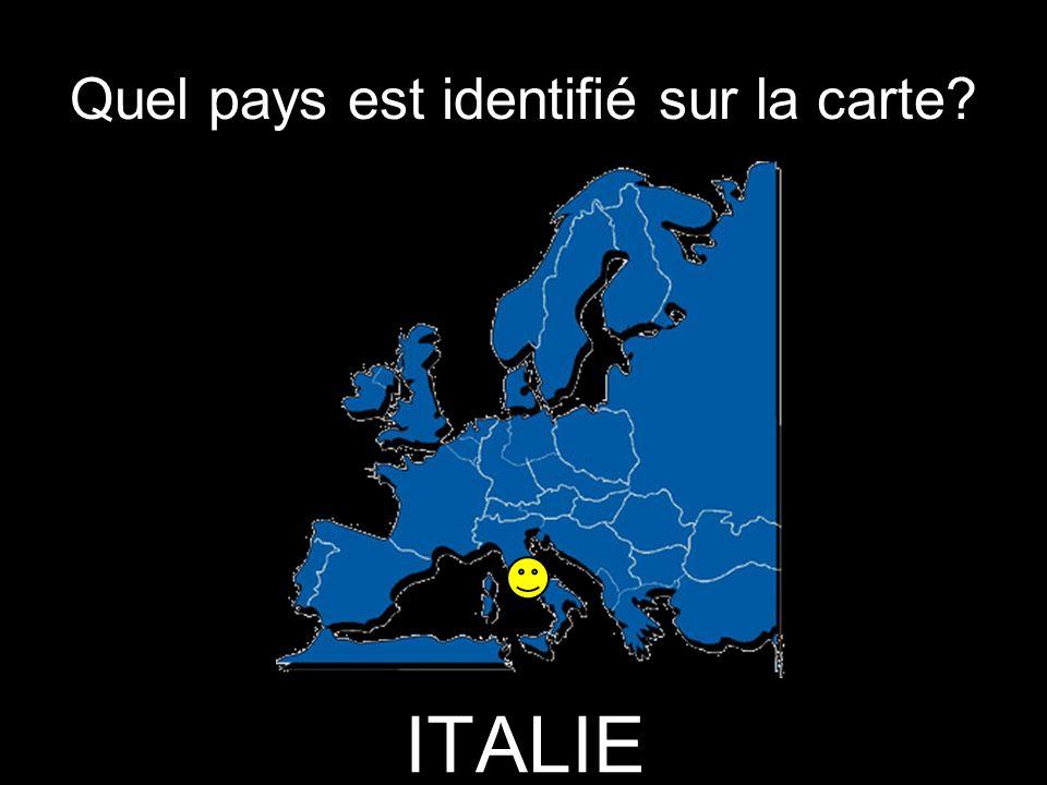 Quel pays est identifié sur la carte? ITALIE