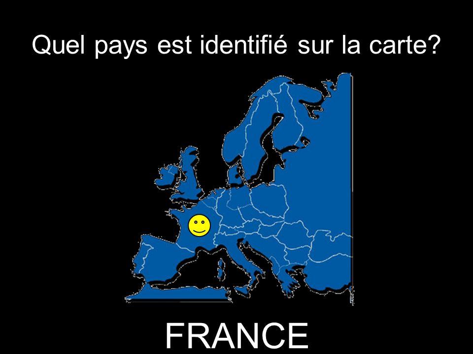 Quel pays est identifié sur la carte FRANCE