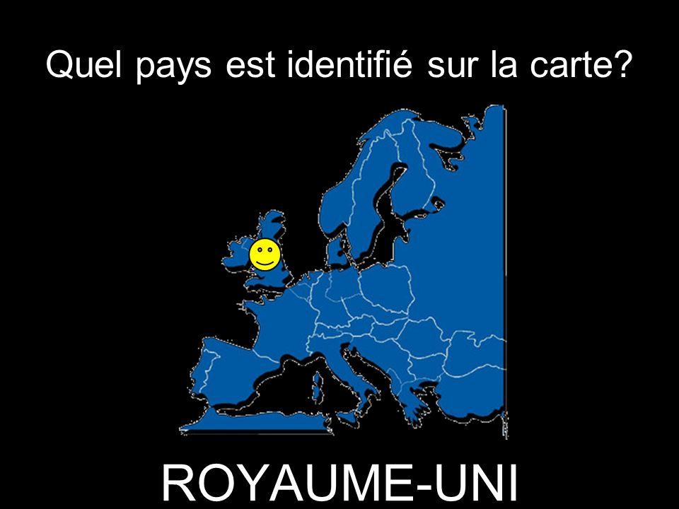 Quel pays est identifié sur la carte? ROYAUME-UNI