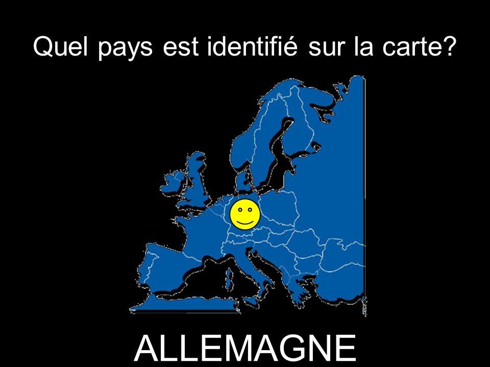 Quel pays est identifié sur la carte ALLEMAGNE