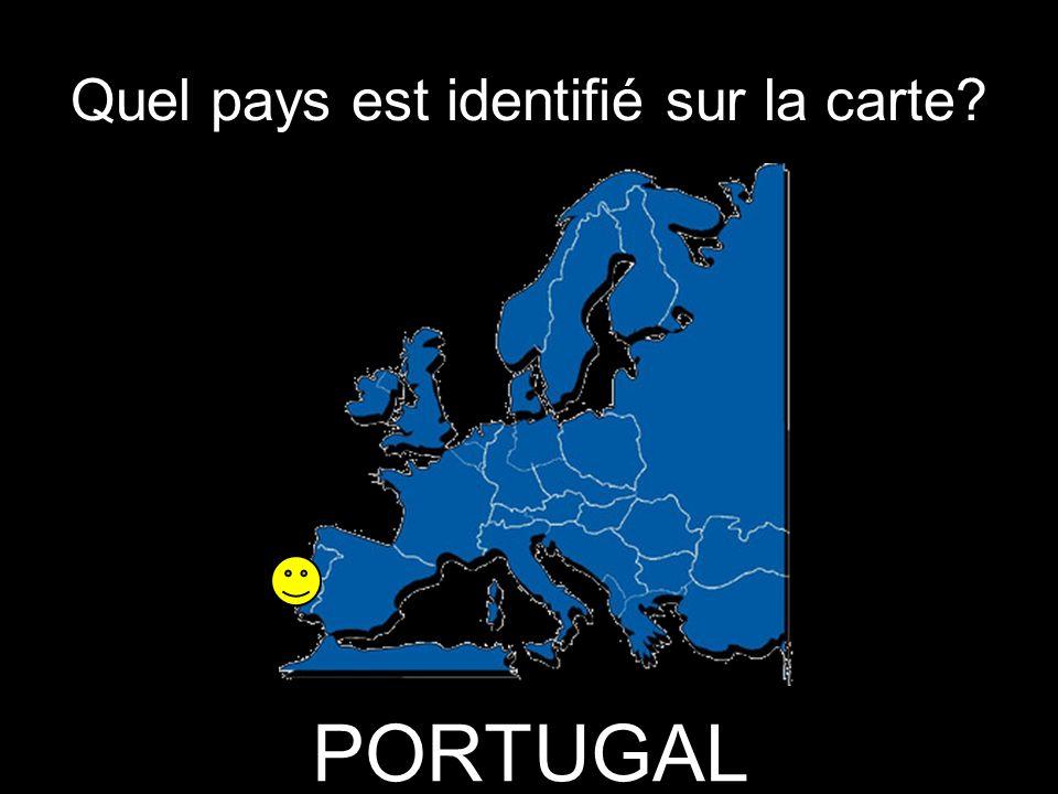 Quel pays est identifié sur la carte PORTUGAL