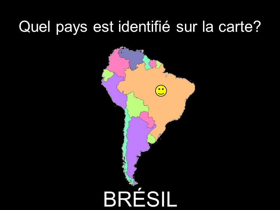 Quel pays est identifié sur la carte? BRÉSIL