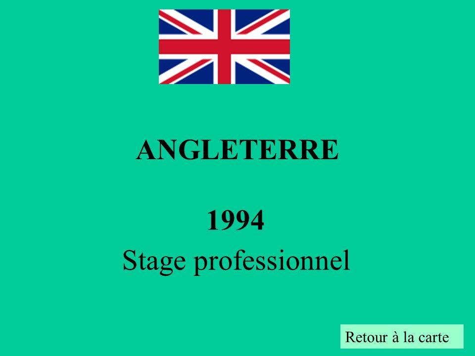 1994 Stage professionnel Retour à la carte ANGLETERRE