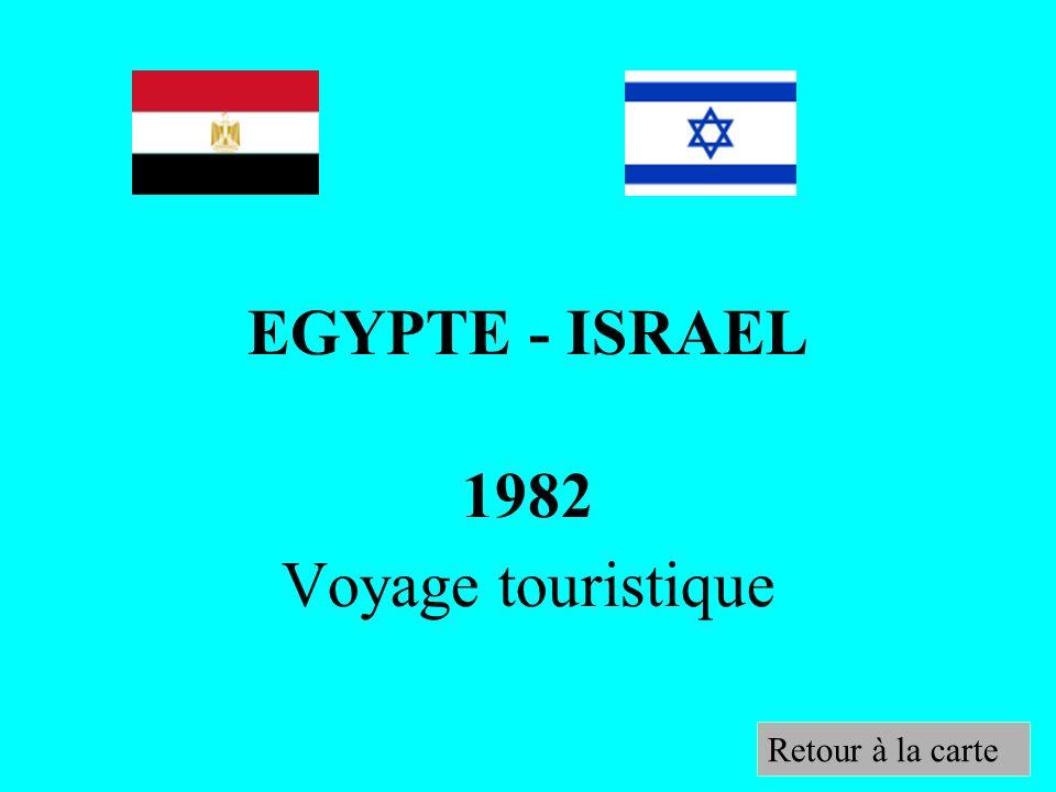 EGYPTE - ISRAEL 1982 Voyage touristique Retour à la carte