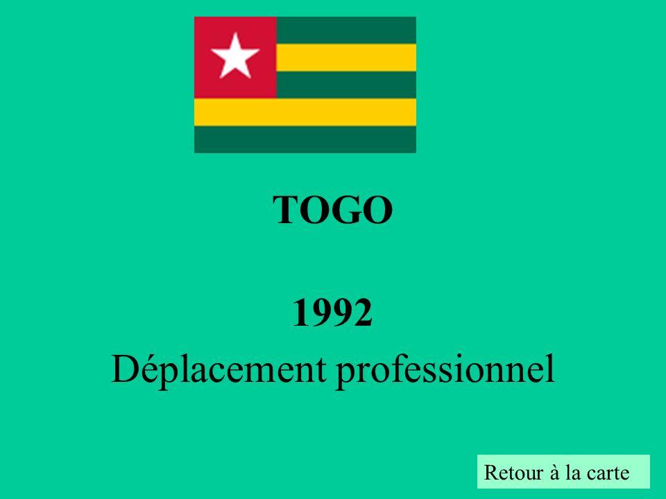 TOGO 1992 Déplacement professionnel Retour à la carte