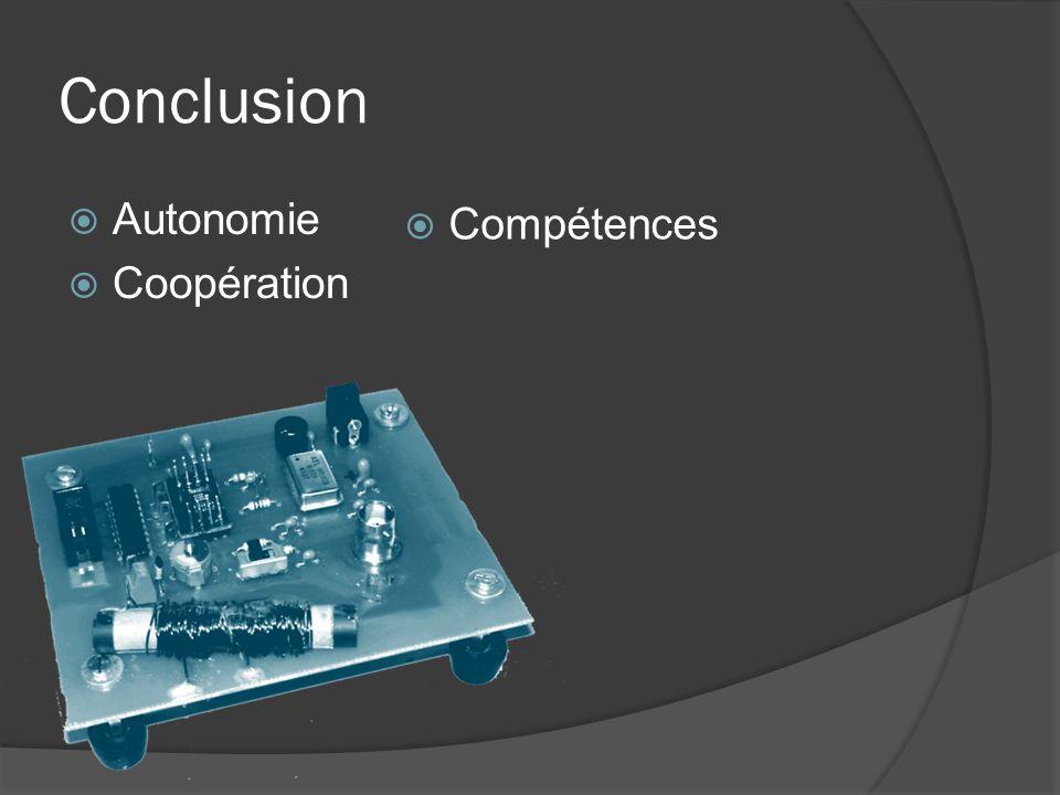 Conclusion Autonomie Coopération Compétences