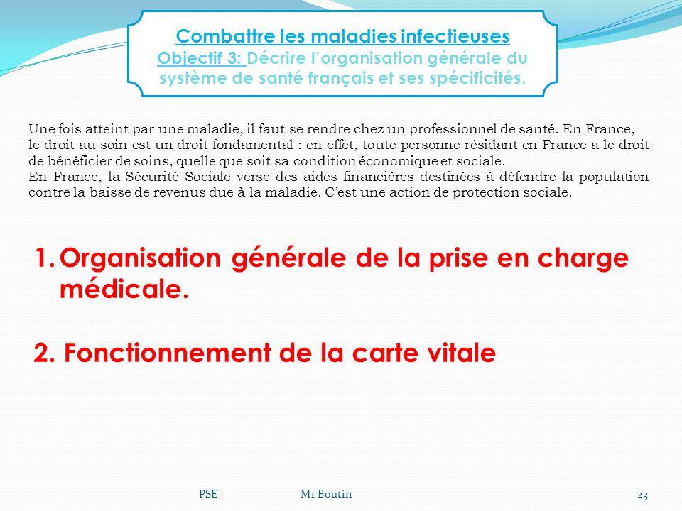 Combattre les maladies infectieuses Objectif 3: Décrire lorganisation générale du système de santé français et ses spécificités. Une fois atteint par