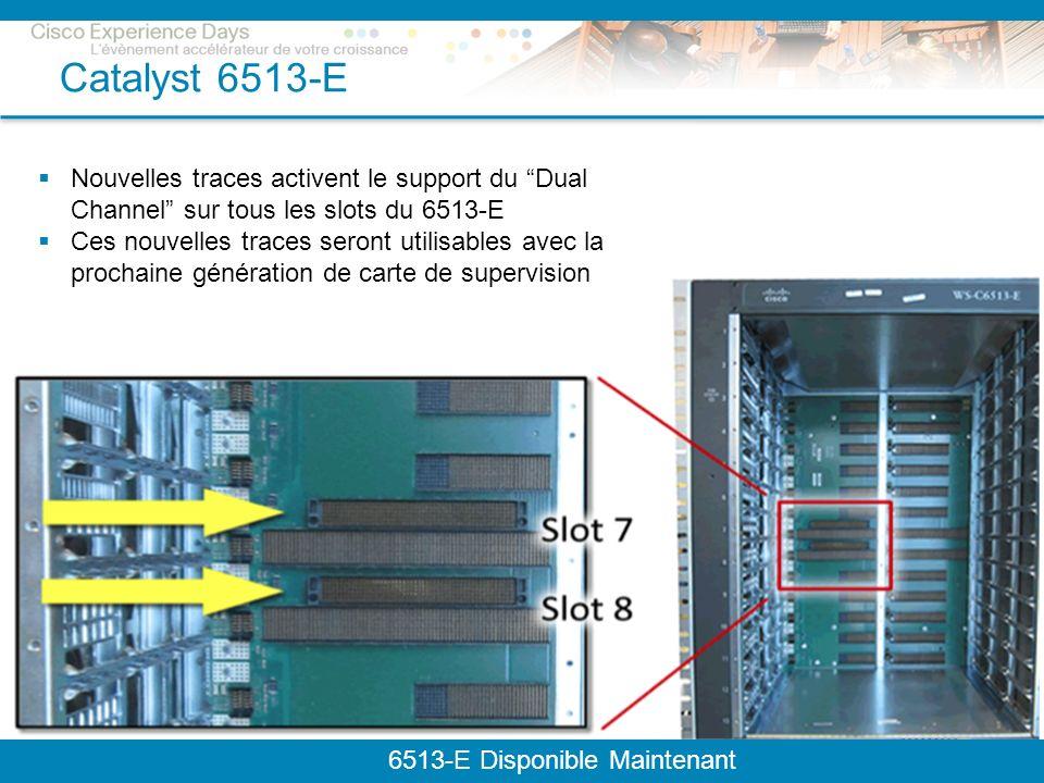 © 2009 Cisco Systems, Inc. All rights reserved.Cisco ConfidentialPresentation_ID 24 Catalyst 6513-E 6513-E Disponible Maintenant Nouvelles traces acti