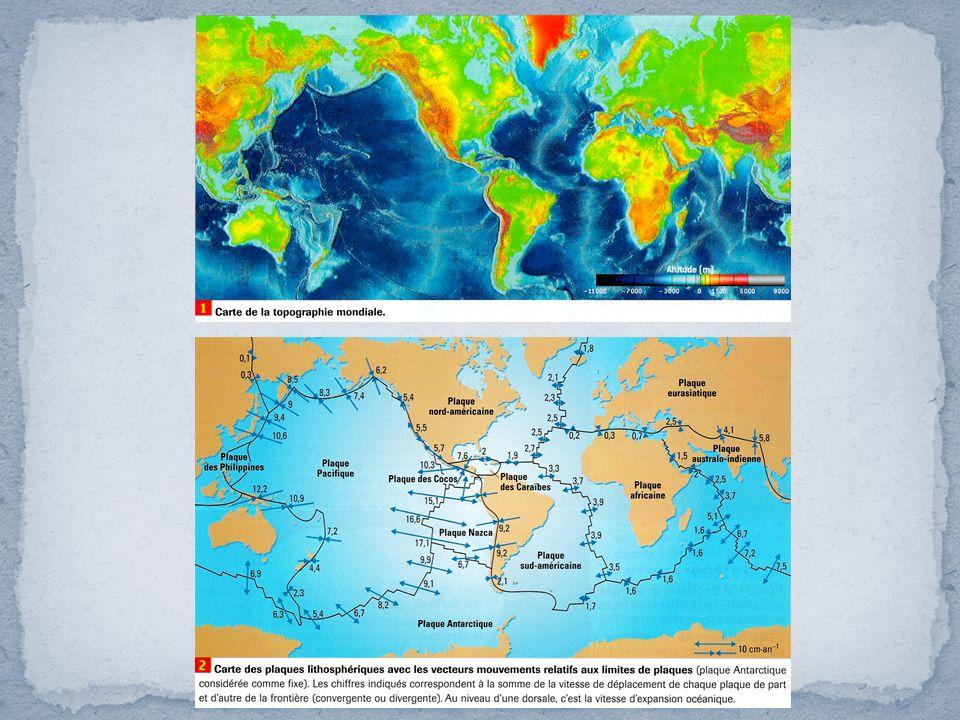 Les marges actives Deux vues tridimensionnelles des marges Ouest (a) et Est (b) du Pacifique (logiciel « Sismolog », Éd.
