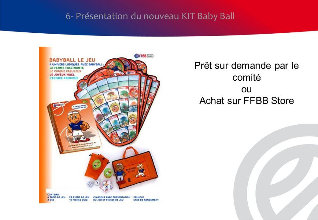 6- Présentation du nouveau KIT Baby Ball Prêt sur demande par le comité ou Achat sur FFBB Store