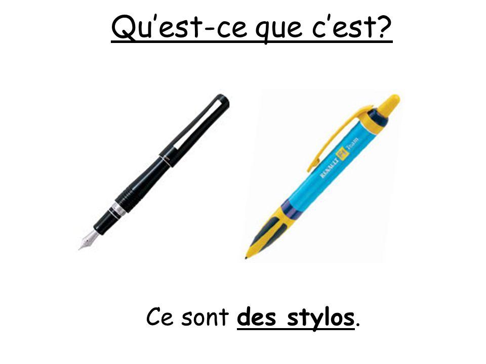 Quest-ce que cest? Ce sont des stylos.