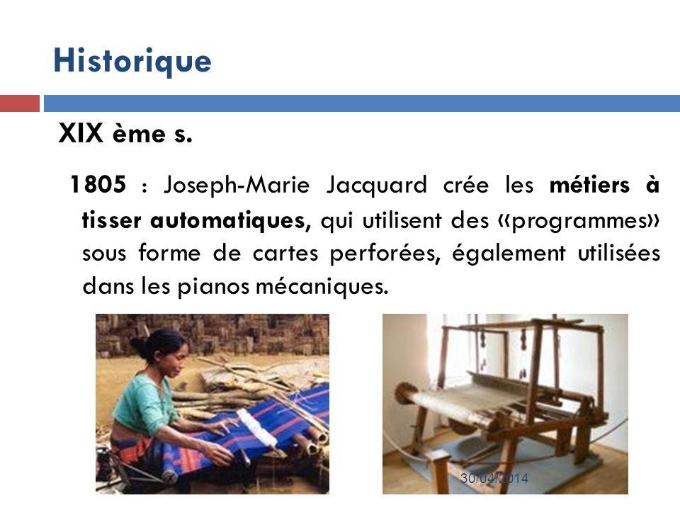 Historique XIX ème s.
